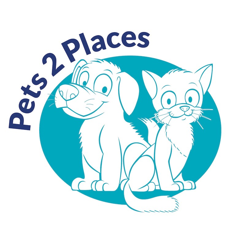 transporting your dog safely - the pets 2 places logo