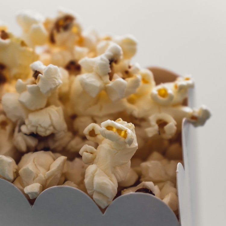 Dog Popcorn - Popcorn in a container